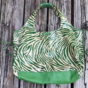 Kate Spade Large Green Zebra Tote
